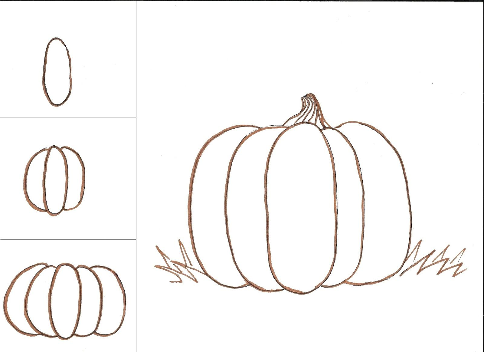 Pumpkins Directed Drawing With Value