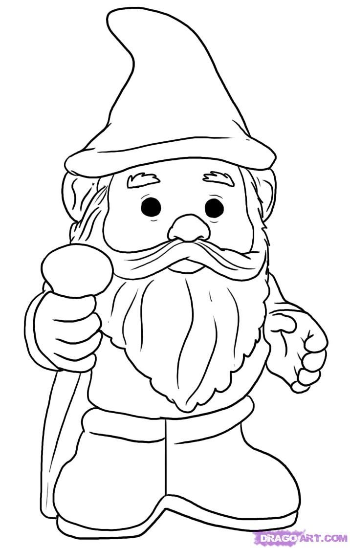 How To Draw A Gnome, Step By Step, Stuff, Pop Culture, Free Online