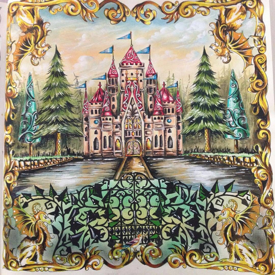 Enchanted Forest Coloring Pages 120 Best Book Completed