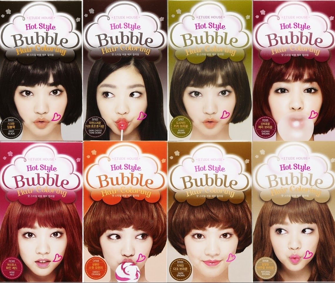 Review  Etude House Hot Style Bubble Hair Coloring In Natural
