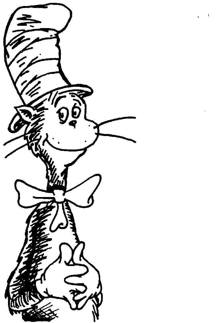 Free Download Cat In The Hat Black And White Clipart For Your