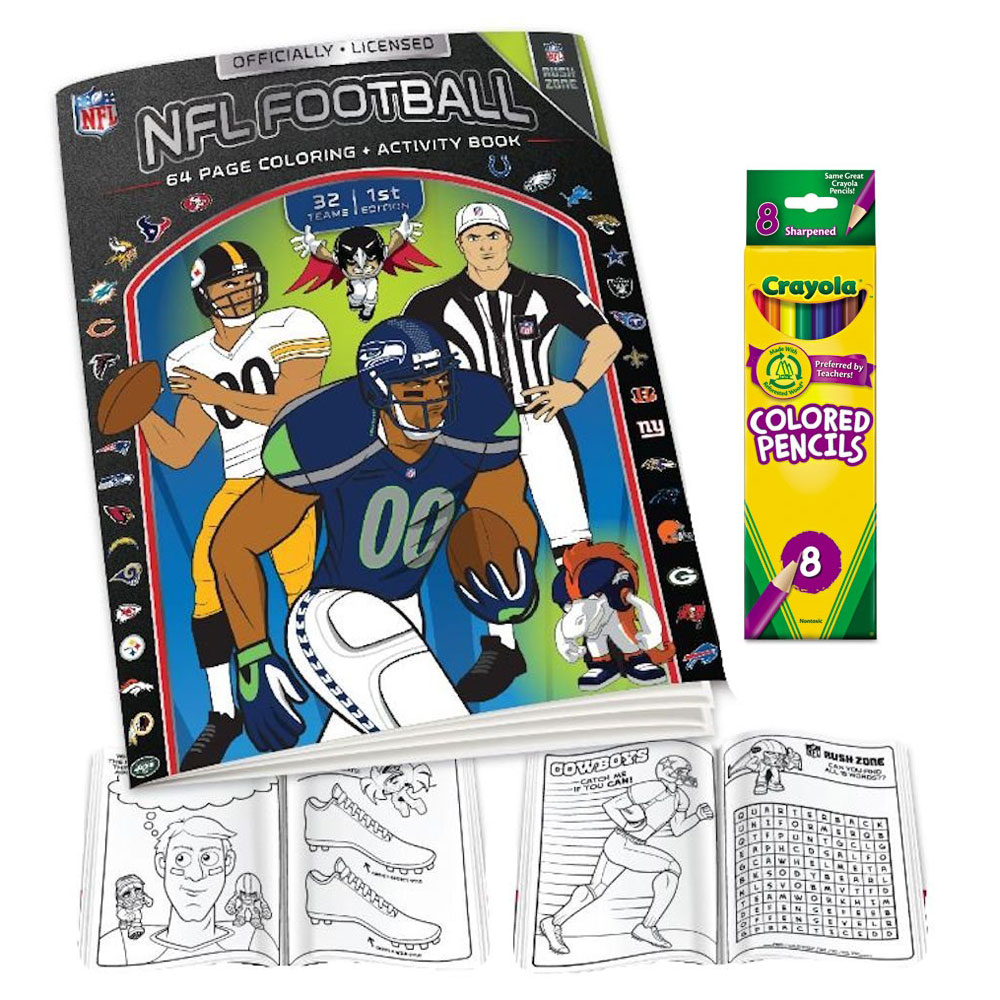 Nfl Coloring Book And Colored Pencil Set