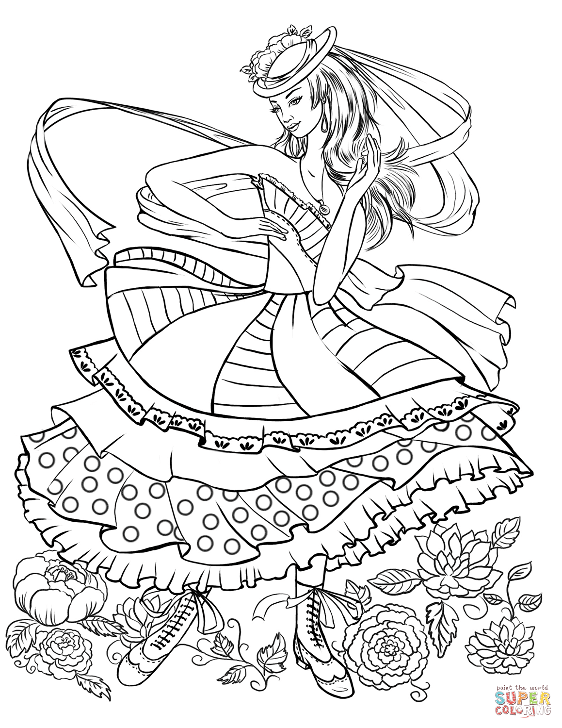 Coloring Page ~ The Fashion Coloring Book Carol Chuthe Chus Luxury