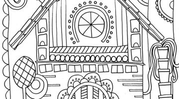 Gingerbread House Coloring Book