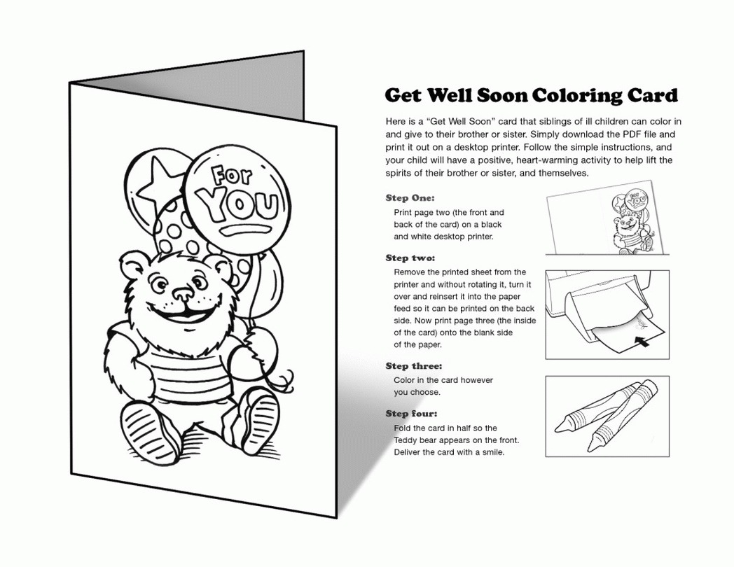 First Paper Printable Get Well Soon Cards Color Uncategorized