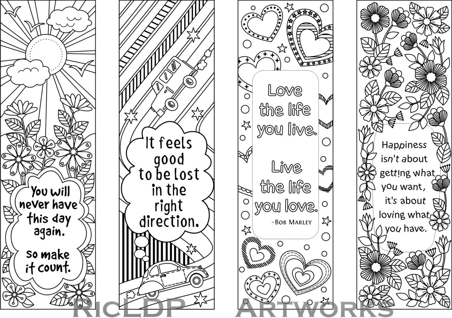 Coloring Pages  40 Extraordinary Free Coloring Bookmarks To Print