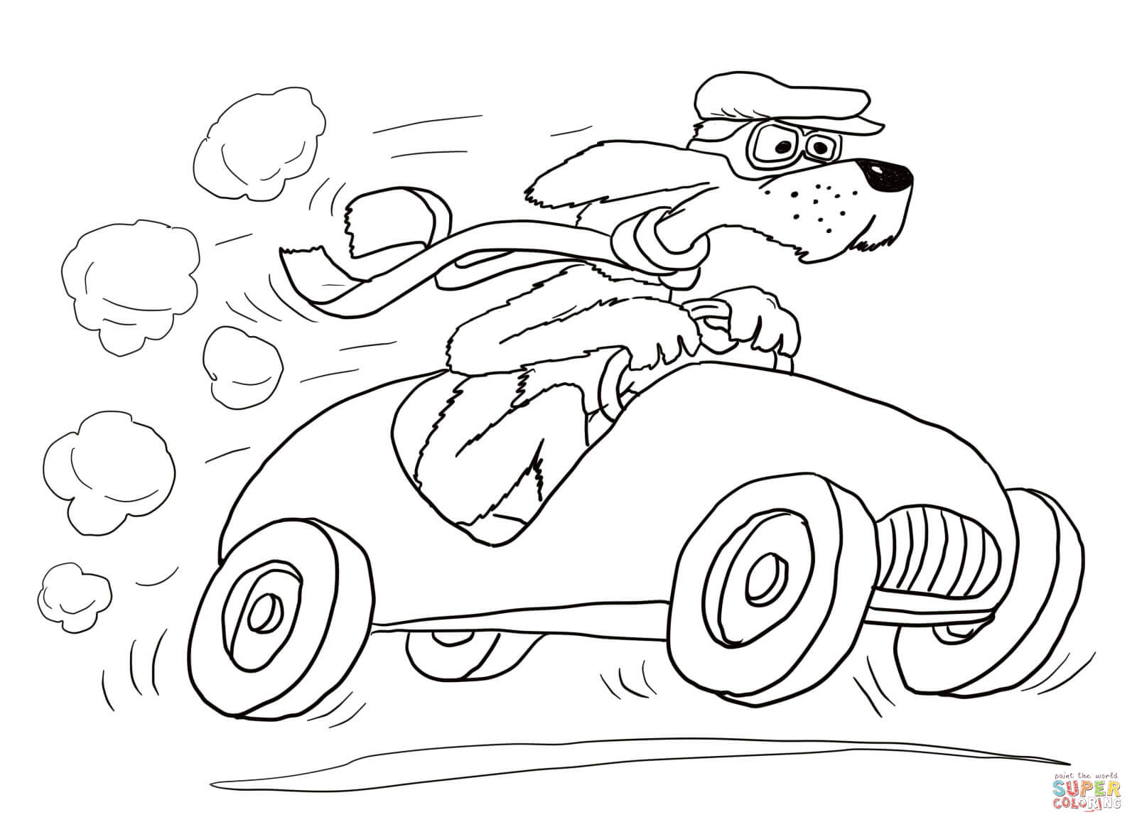 Go, Dog  Go! Coloring Page