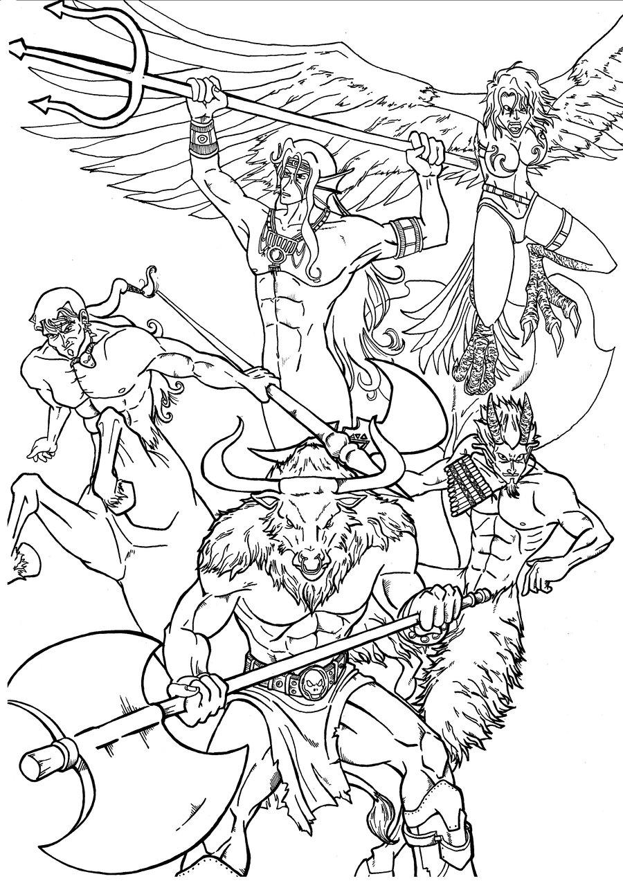 Greek Mythology Drawing High