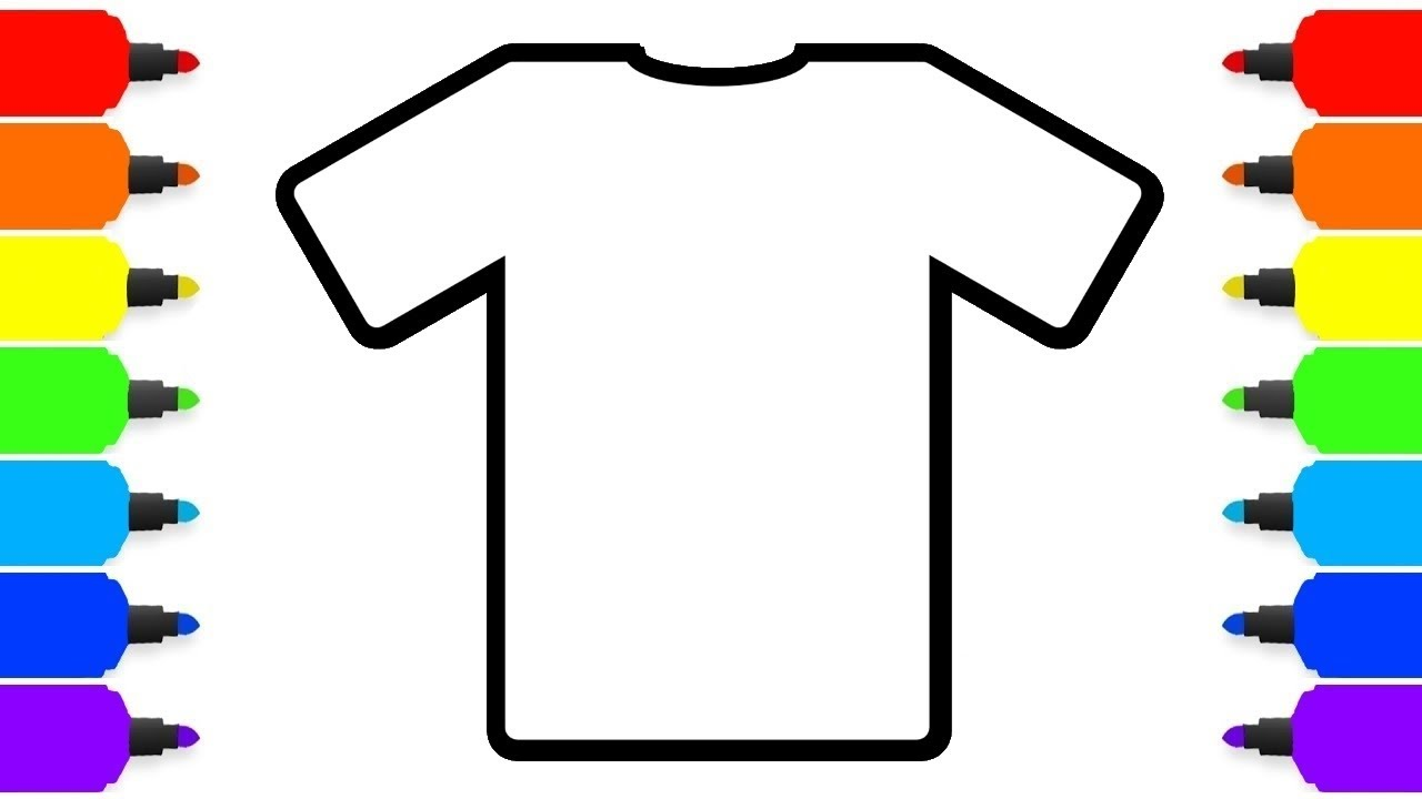 How To Color T Shirt Learn Colors Drawing And Coloring Pages For
