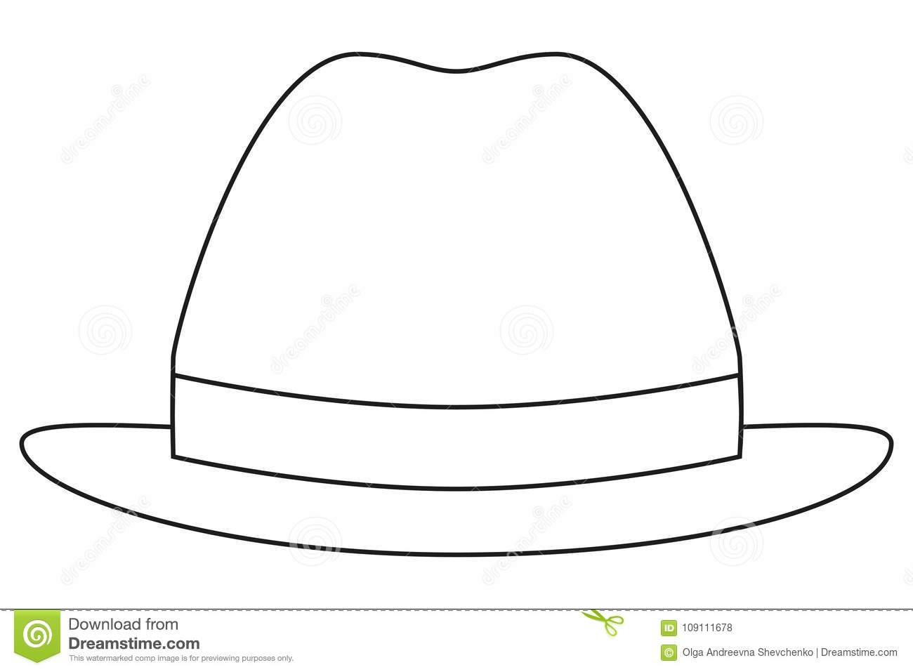 Icon Line Art Poster Man Father Dad Day Hat Cap  Stock