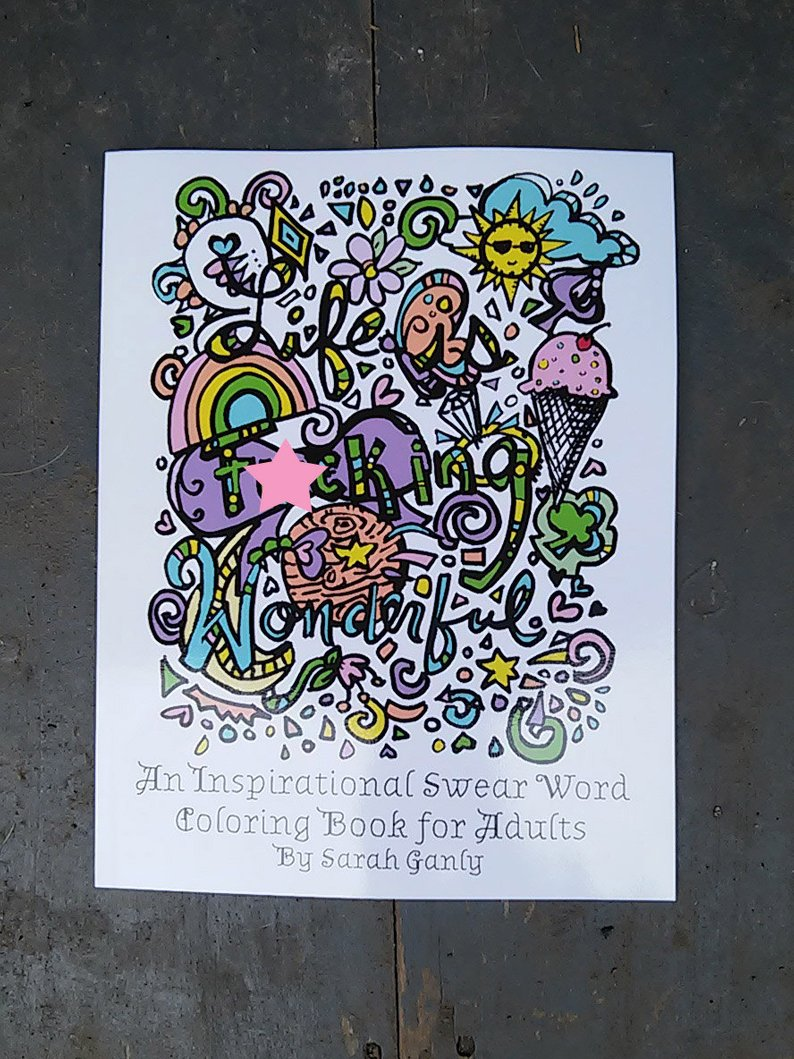 Swear Word Coloring Book Inspirational Physical Hard Copy