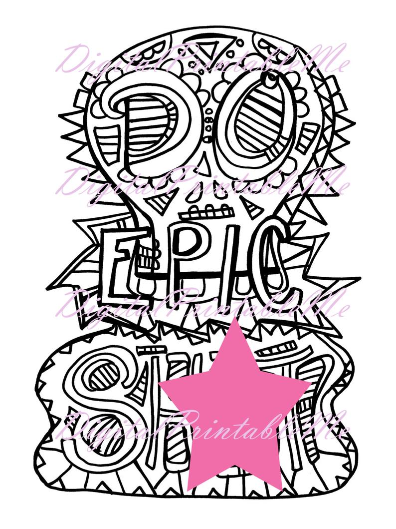 Curse Word Coloring Book Page Inspirational Printable Download