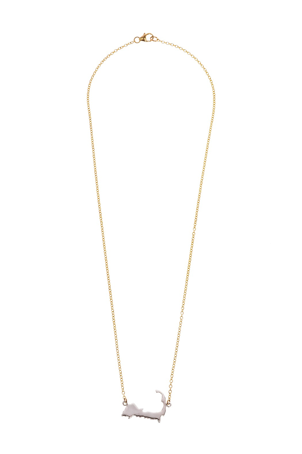 Jewelry Studio Of Wellfleet Two Toned Silhouette Necklace From