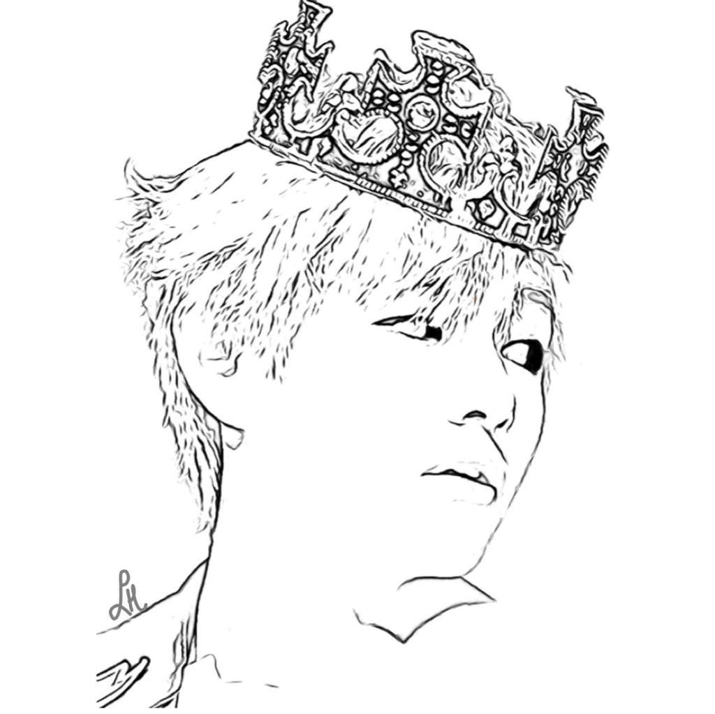 11 Jungkook Drawing Bts Coloring Page For Free Download On Ayoqq Org