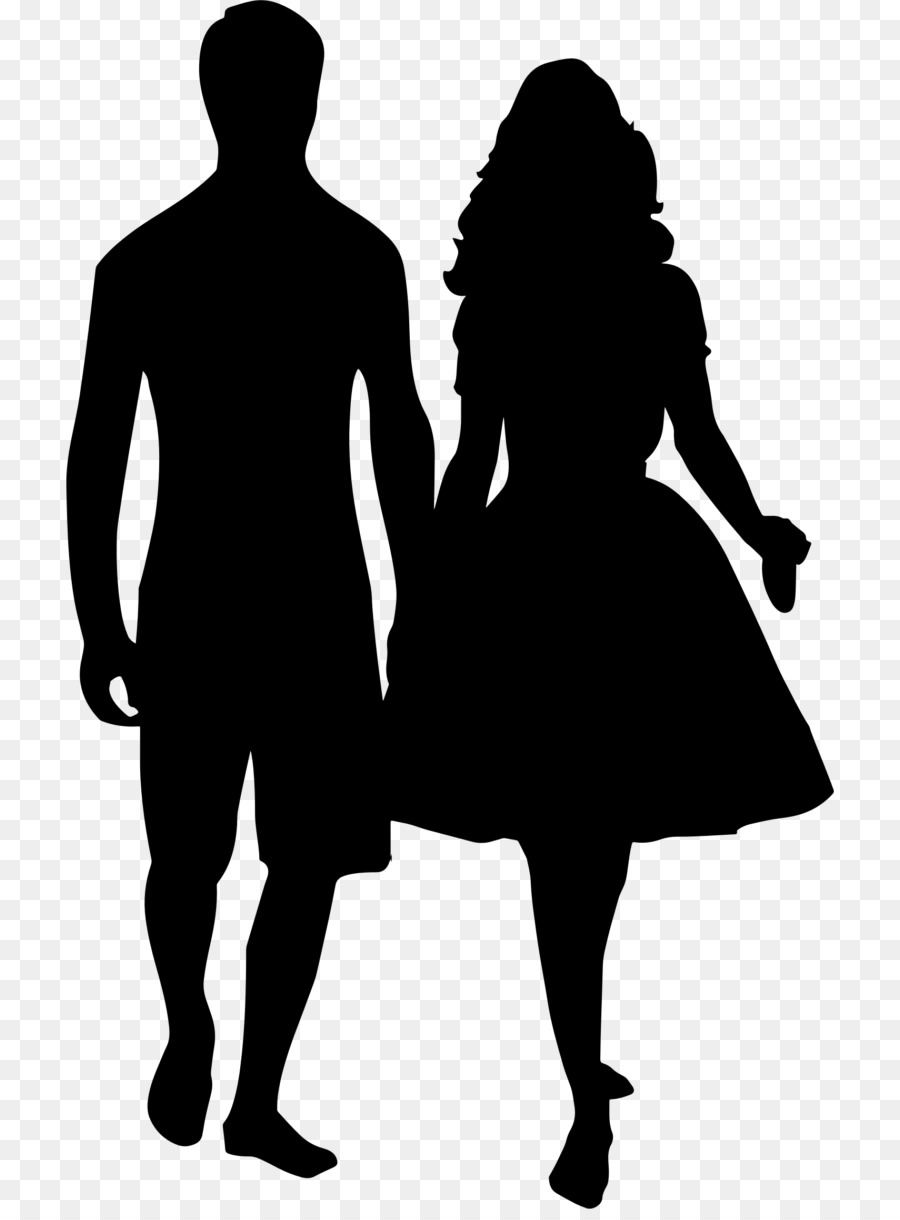 Silhouette Holding Hands Drawing Clip Art