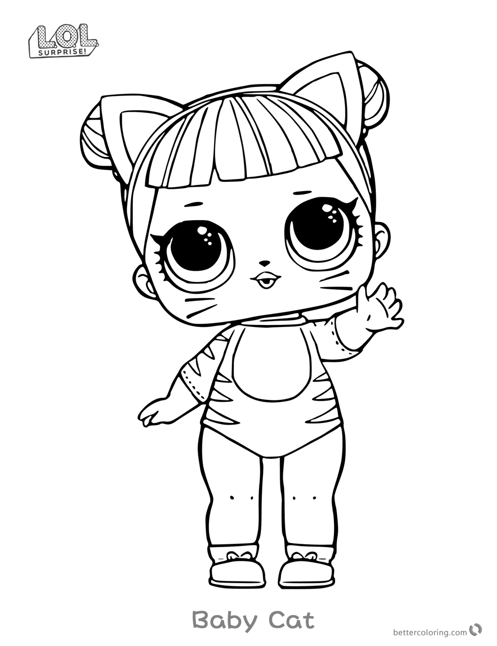 Lol Surprise Doll Coloring Pages Series 1 Baby Cat