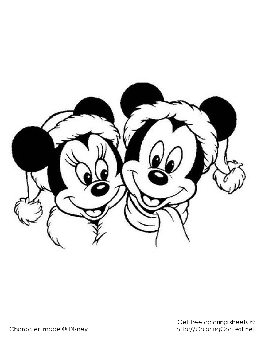 Love Mickey Mouse Christmas Coloring Pages  1276 Mickey Mouse