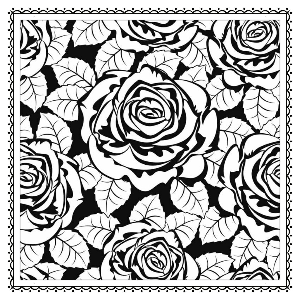 Coloring Page ~ Magic Garden Fantastic Flowers Coloring Book For