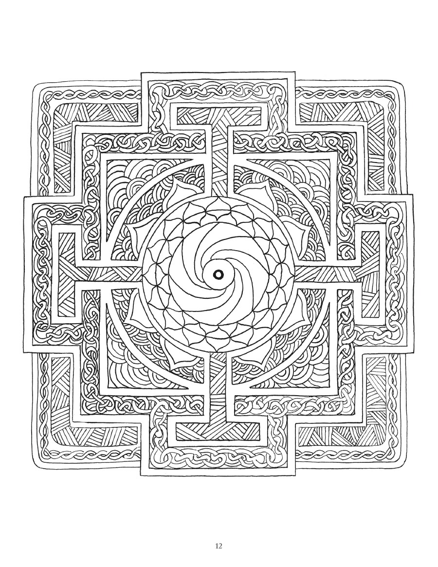 Coloring Page ~ Mandala Coloring Book For Adults Art Of Toys Page