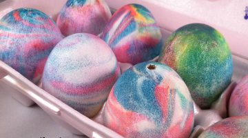 Coloring Easter Eggs With Shaving Cream