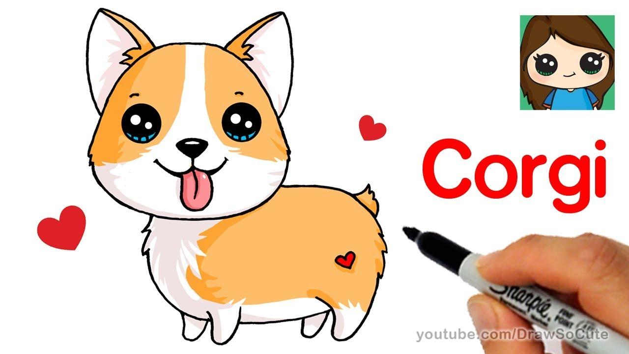How To Draw A Corgi Easy