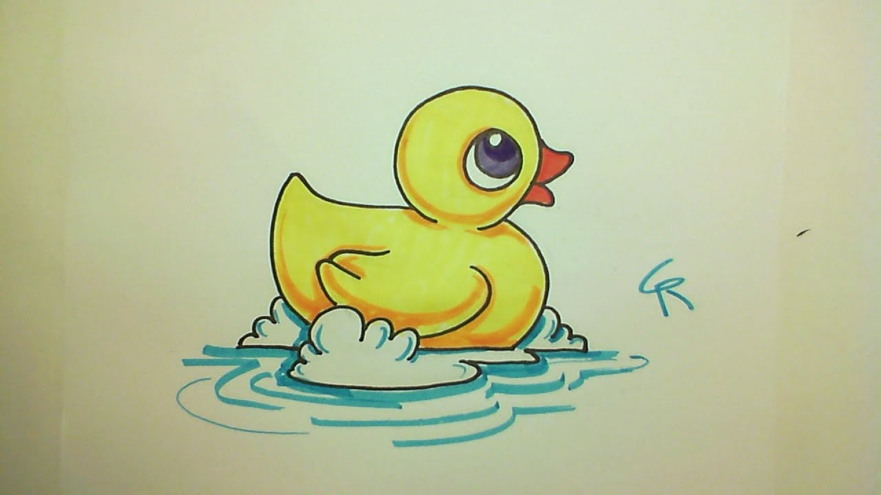 Learn How To Draw A Cute Rubber Ducky
