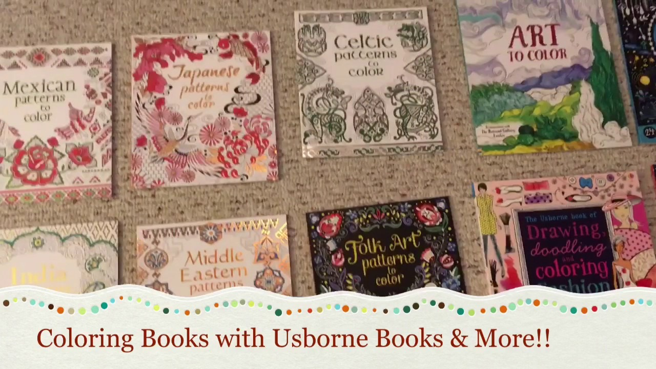 Coloring Books With Usborne!