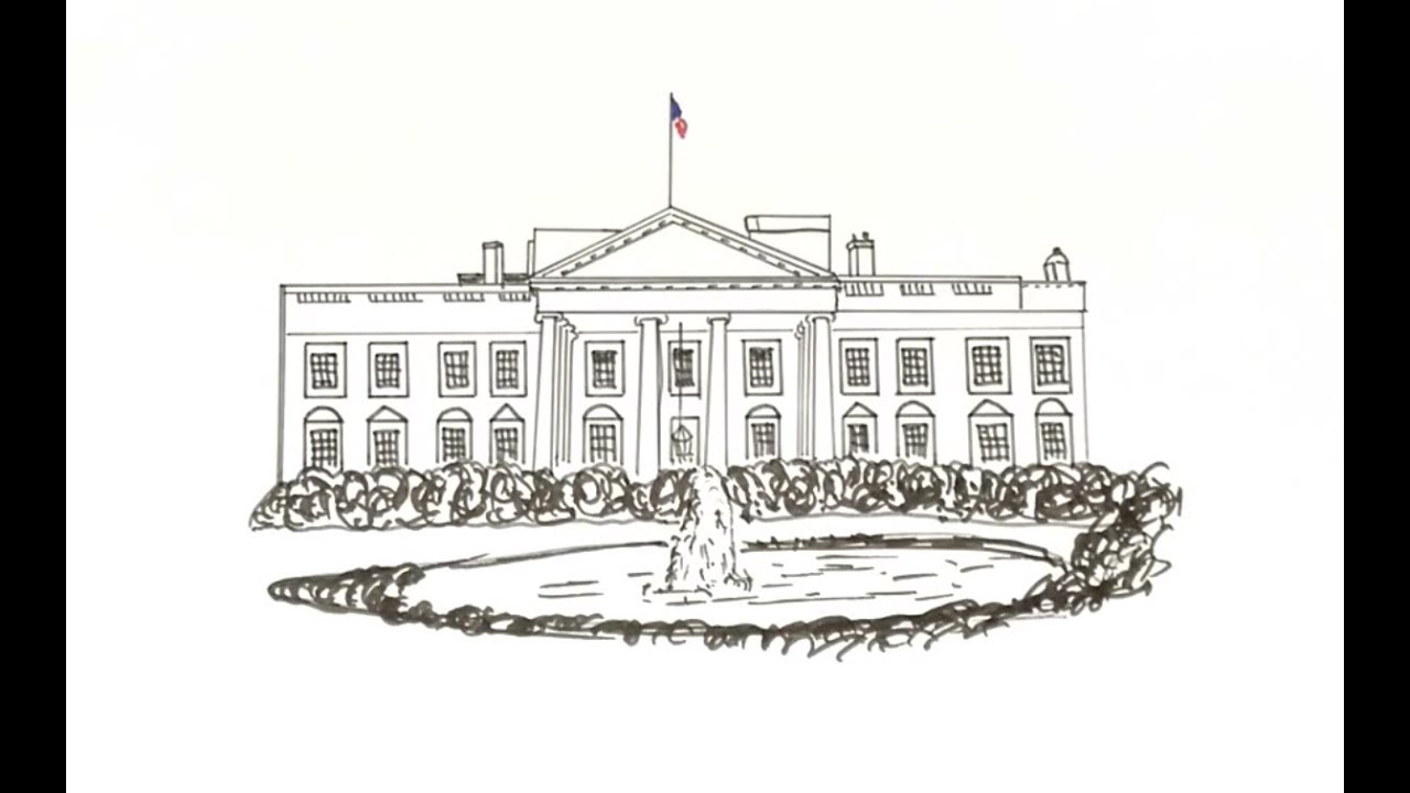 How To Draw The White House