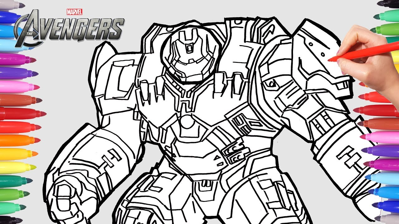 The Avengers Hulkbuster Iron Man Superheroes Coloring Pages