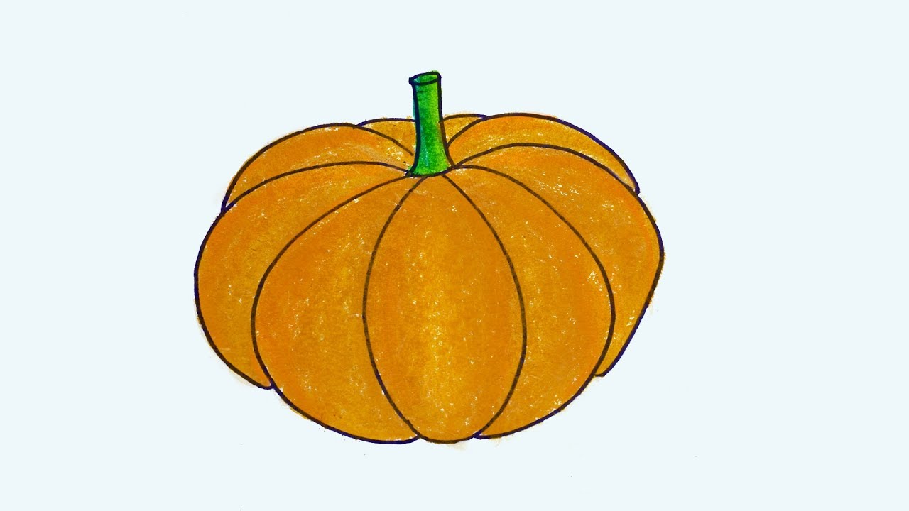 How To Draw Pumpkin Easy And Simple Step By Step