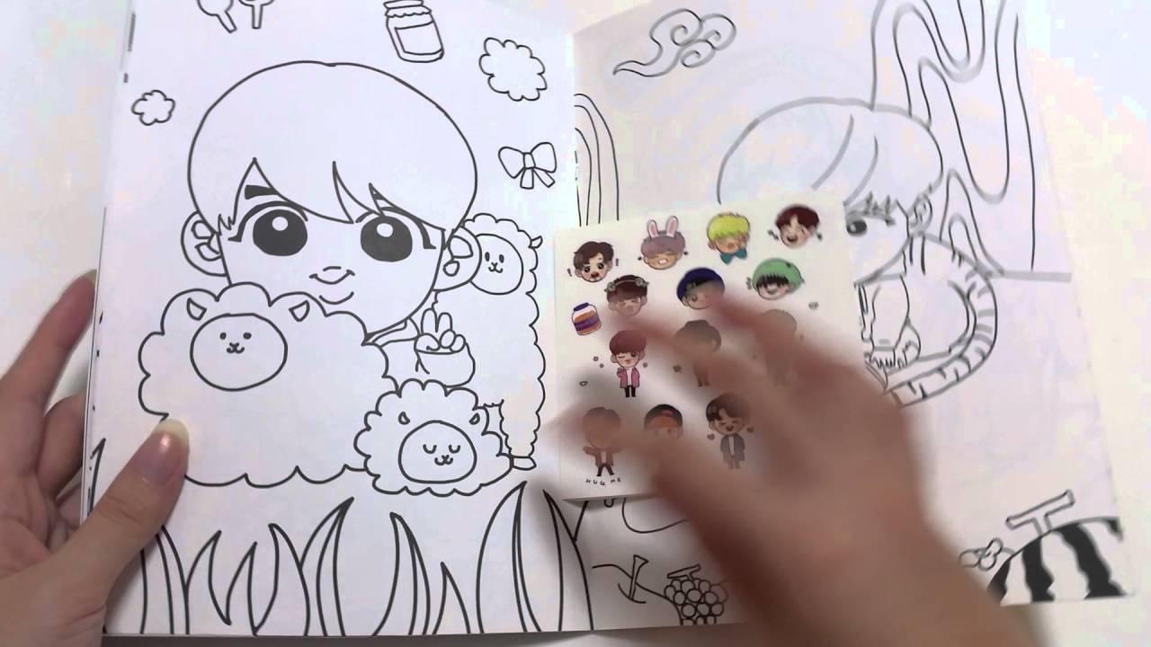 Unboxing] Cheesebang Bts Colouring Book
