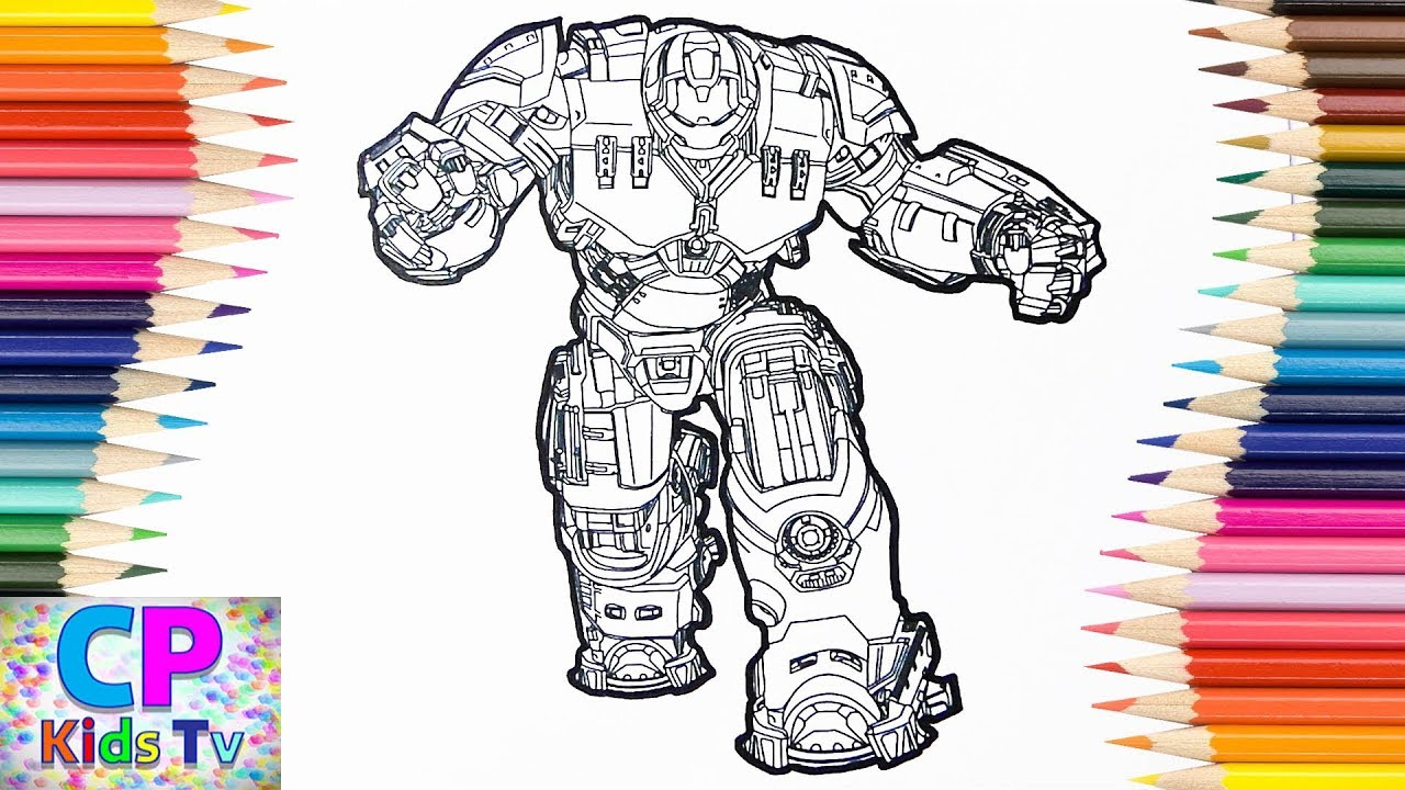 Iron Man Hulkbuster Coloring Pages For Kids, How To Color Iron Man