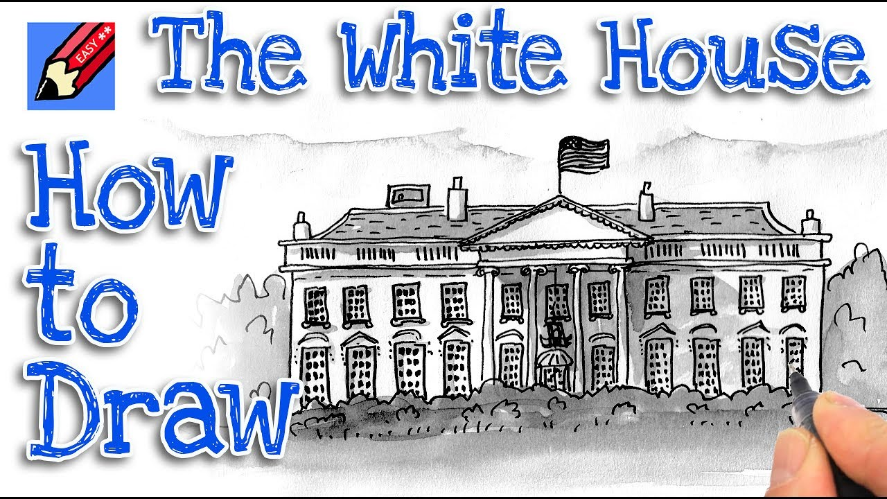 How To Draw The White House Real Easy