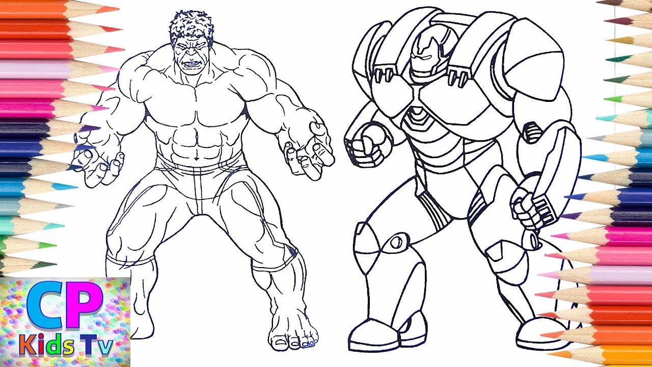 Hulk Vs Iron Man Hulkbuster Coloring Pages For Kids, How To Color