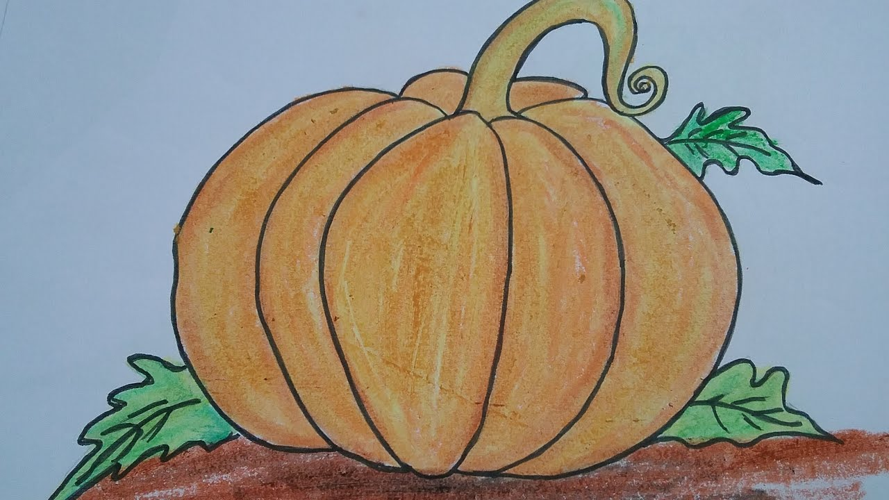 How To Draw Pumpkin With Basic Shapes,easy Drawing For Kids