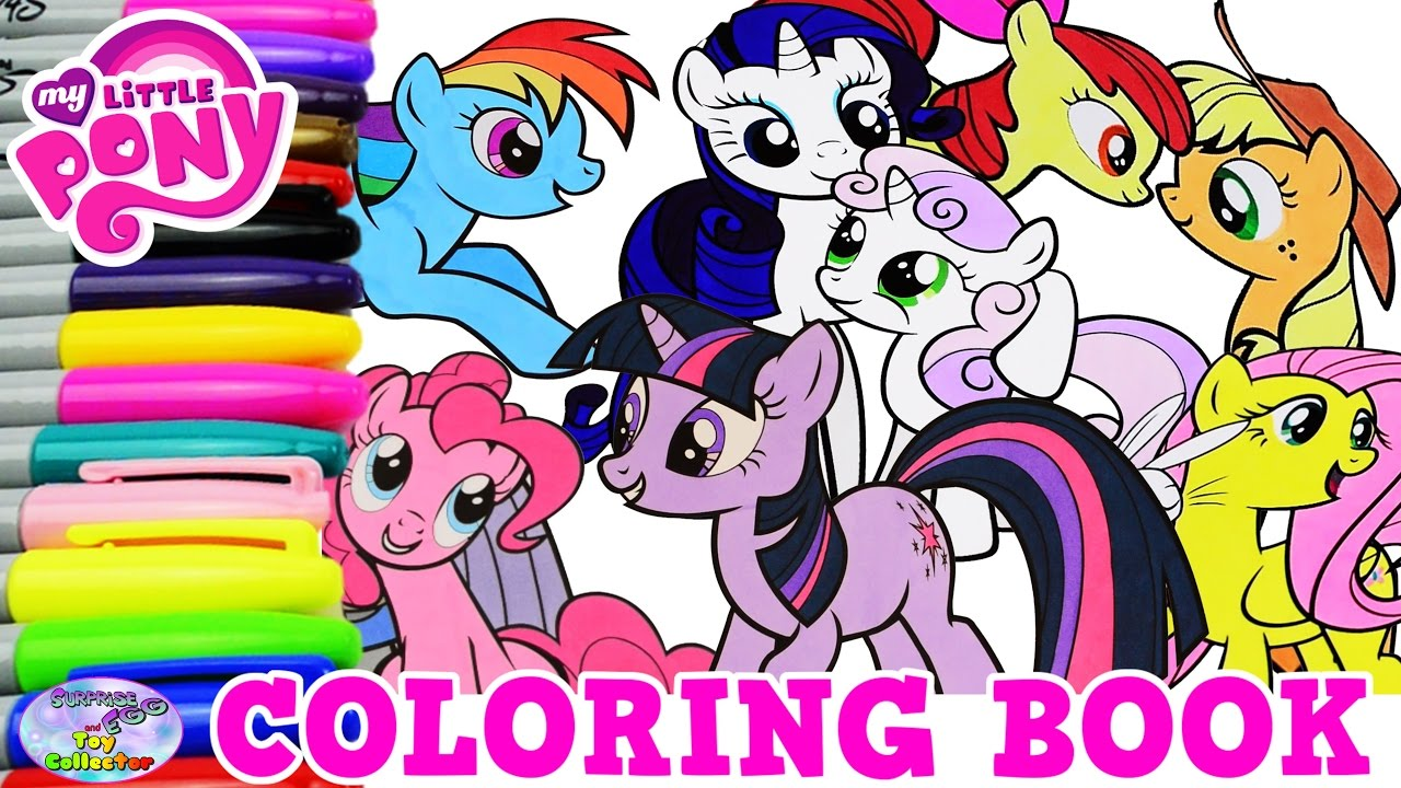 My Little Pony Coloring Book Mane 6 Compilation Episode Mlp