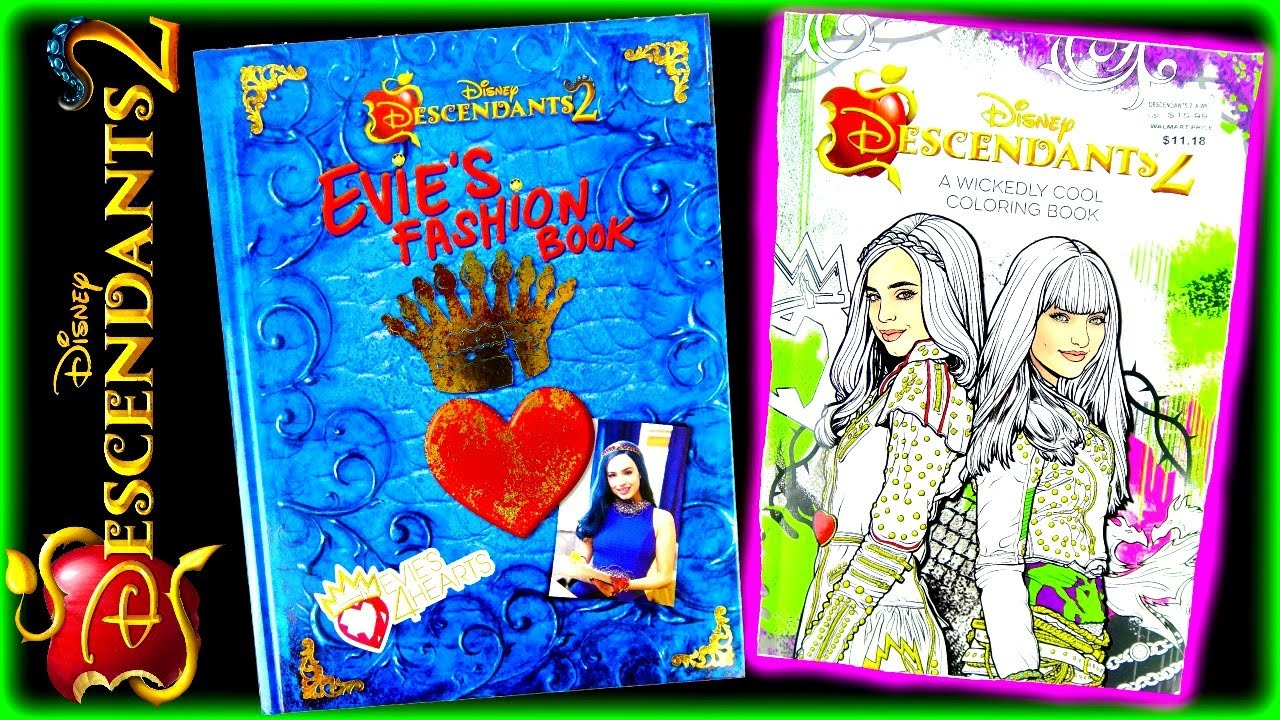 Disney Descendants 2 Evie's 4 Hearts Fashion Book And Wickedly