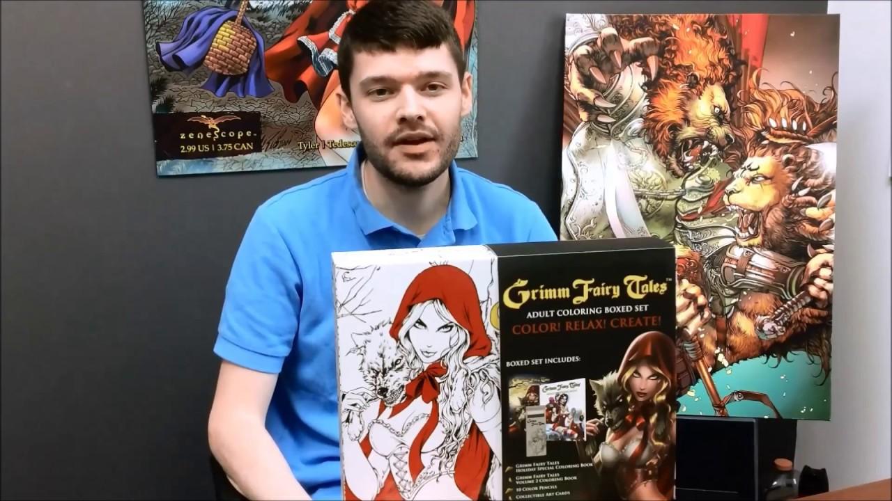 Grimm Fairy Tales Coloring Book Boxed Set Kickstarter Announcement