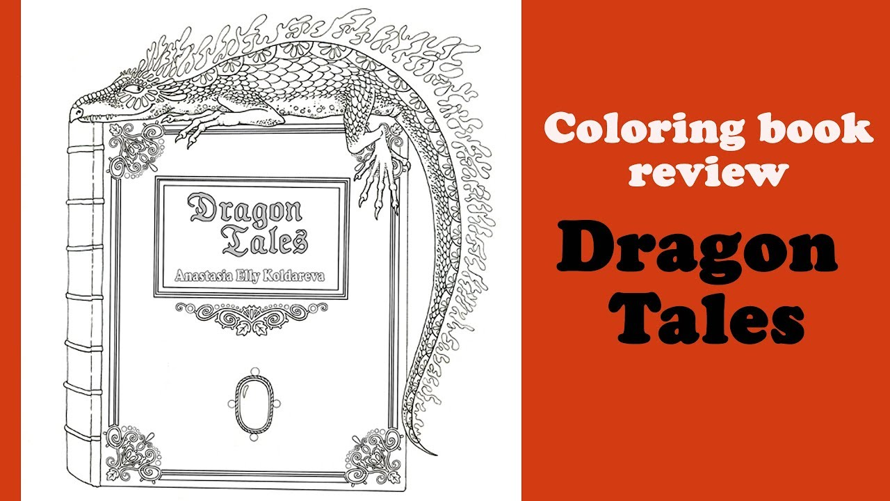 Dragon Tales' Coloring Book Review And Flip Through