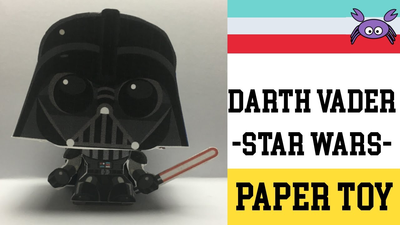 How To Make A Darth Vader   Star Wars   Paper Toy ( Papercraft