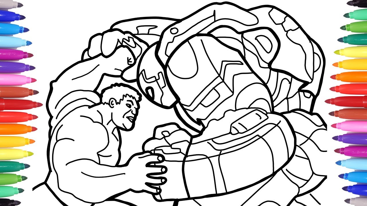 Hulk Vs Ironman Hulkbuster, The Avengers Coloring Pages, How To