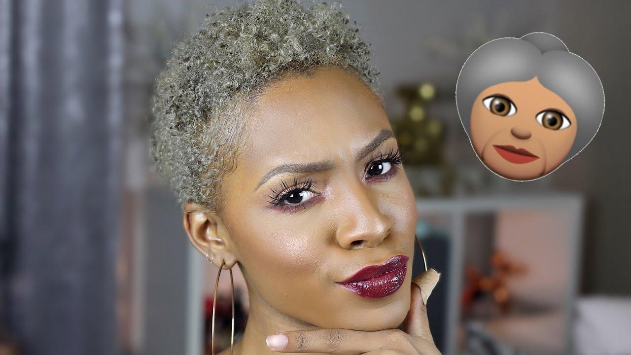 Hair Update  How I Got Silver Grey Natural Hair! ▸ Vickylogan