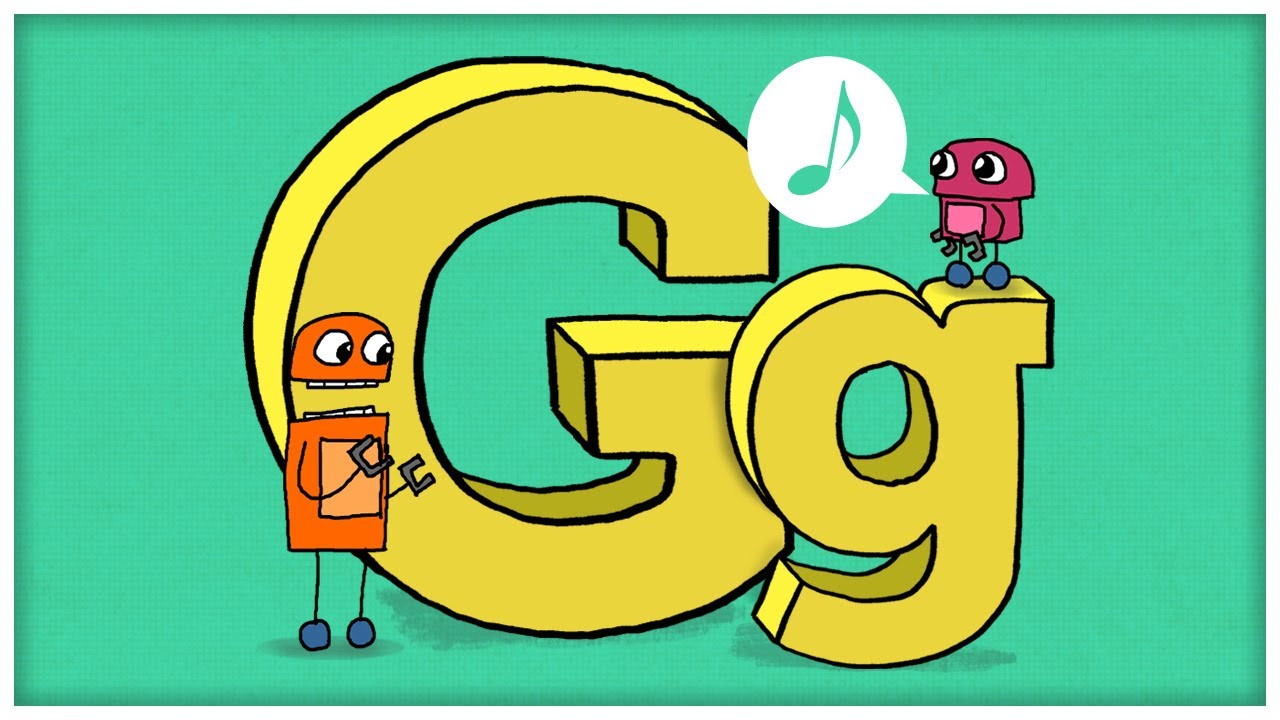 Abc Song  The Letter G,  Gimme G  By Storybots