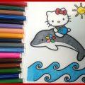 Hello Kitty Riding A Dolphin