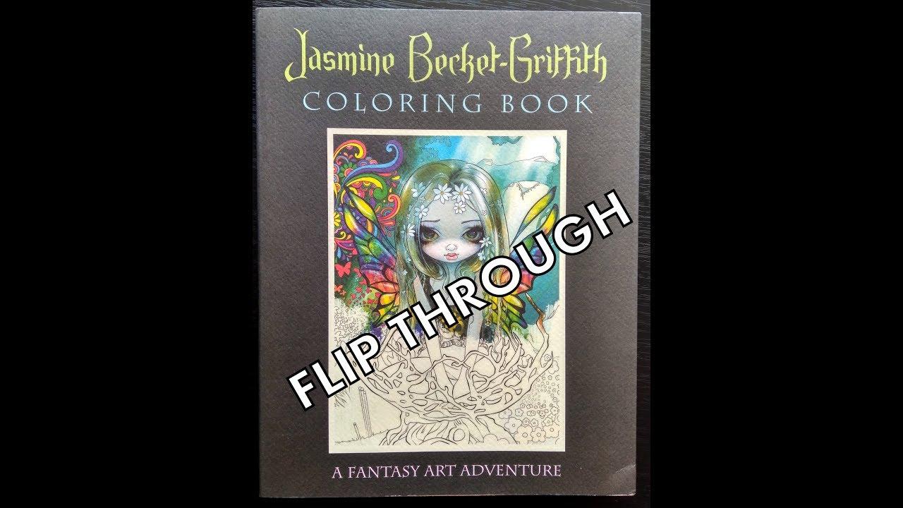 Flip Through A Fantasy Art Adventure Coloring Book By Jasmine