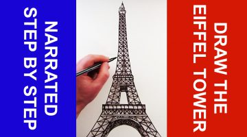 How To Draw The Eifel Tower