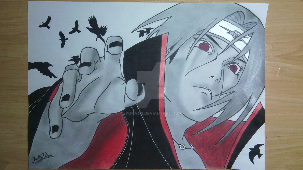 My Drawings  Itachi Uchiha By Yonato On Deviantart