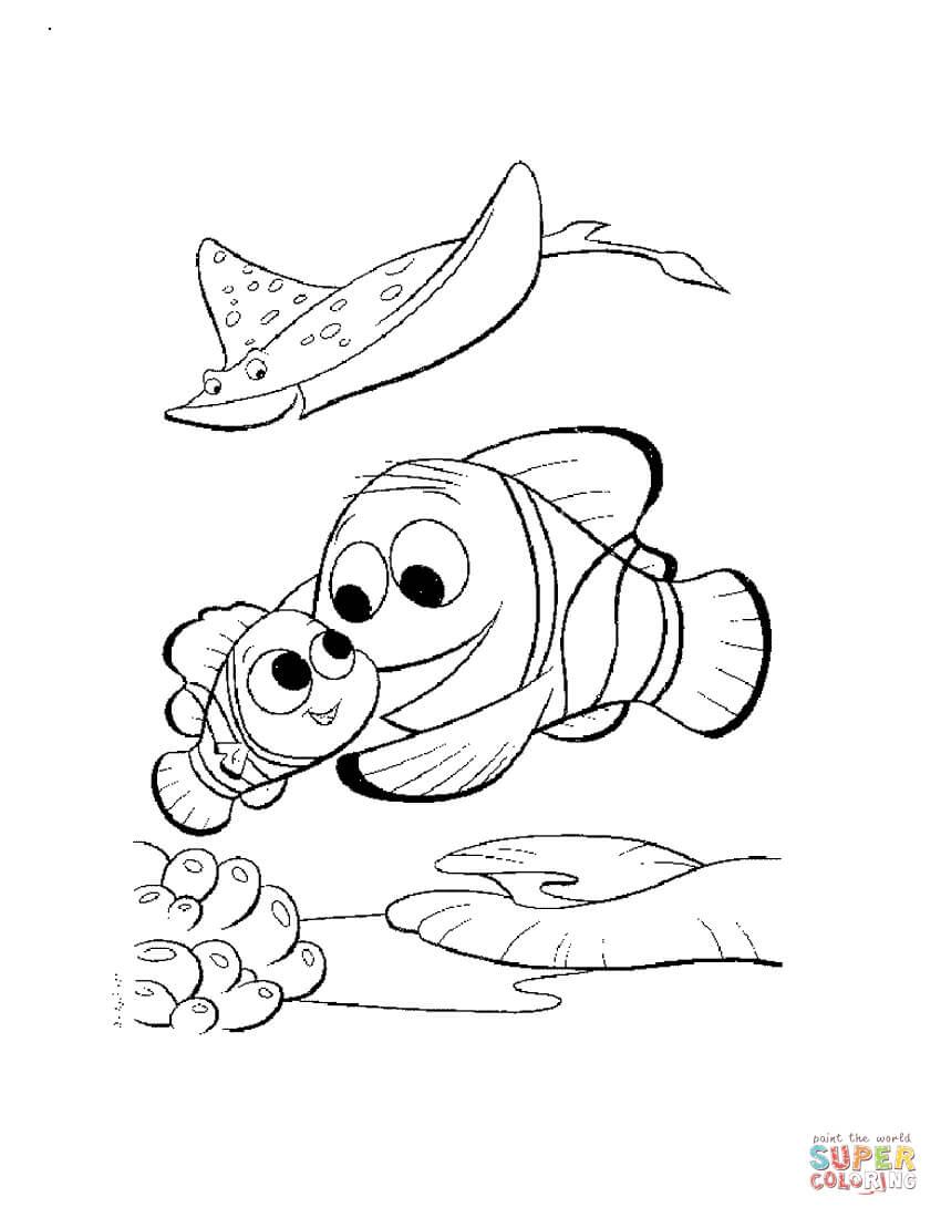 Dibujos De Buscando A Nemo Para Colorear