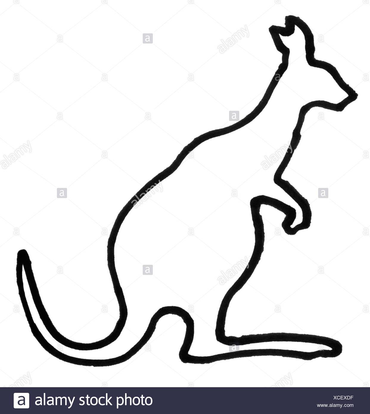 Outline Of A Kangaroo Stock Photo  283069851