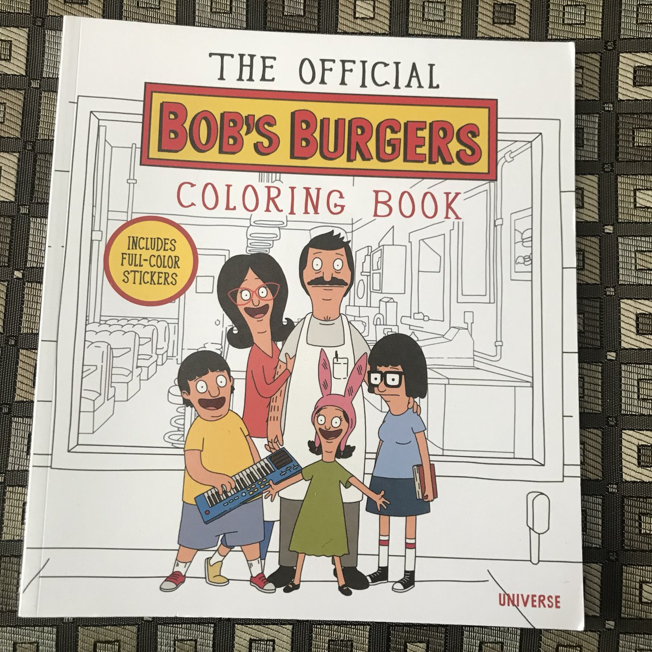 Brand New Bob's Burgers Coloring Book All The Stickers Are